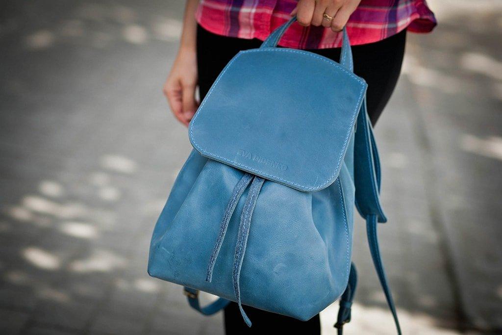 Городской женский кожаный рюкзачок