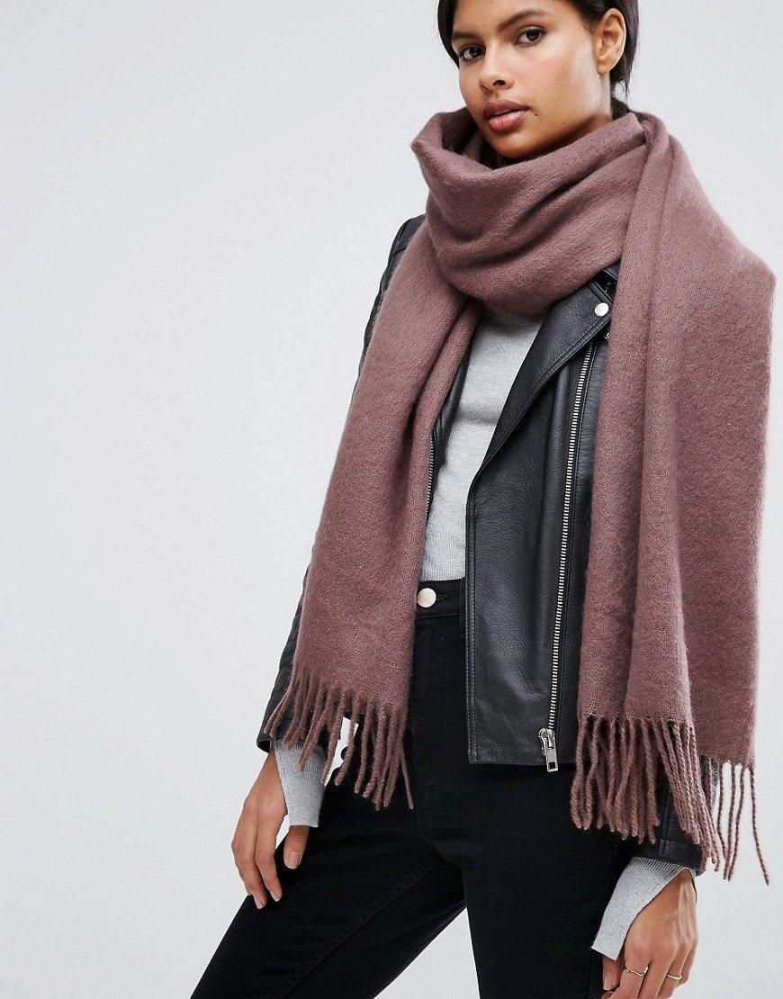 Кашемировый базовый шарф
