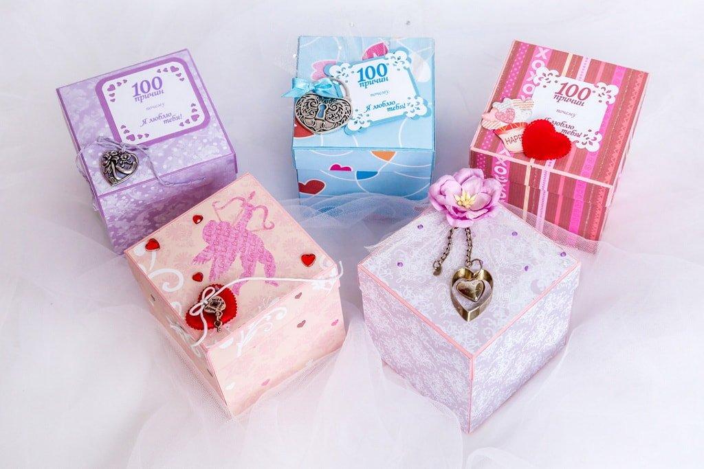 Коробочка с записками «100 причин моей любви»