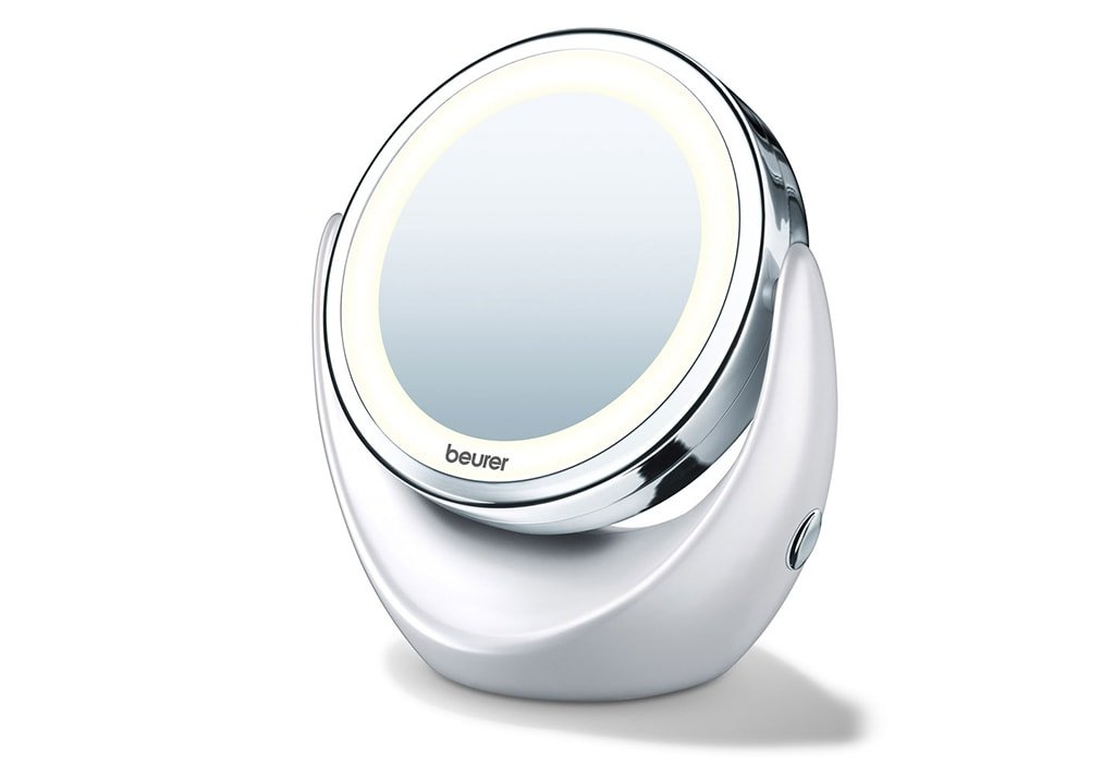 Косметическое увеличительное зеркало с подсветкой