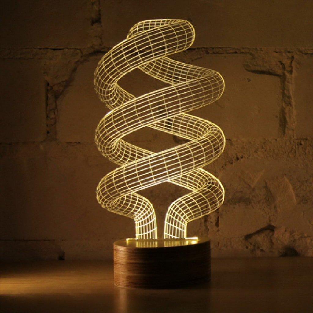 Настольный 3D светильник
